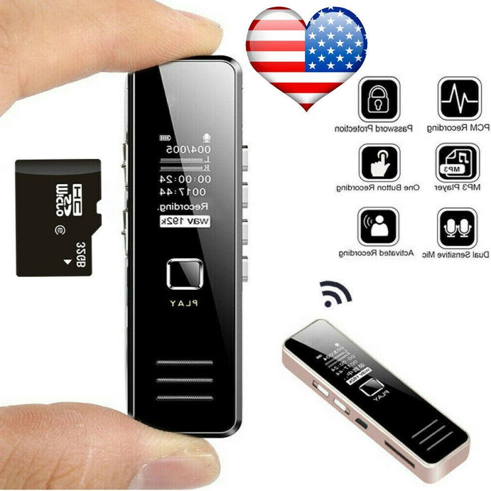 voice activate mini digital sound audio recorder