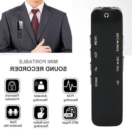 Voice Activate Mini Spy Digital Dictaphone MP3 Player