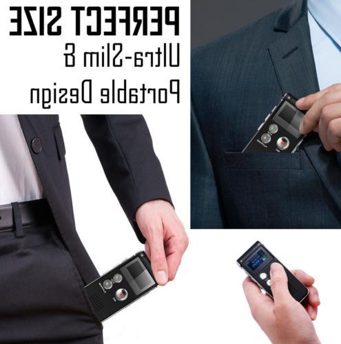 Voice Activated Digital Audio MP3 8GB US