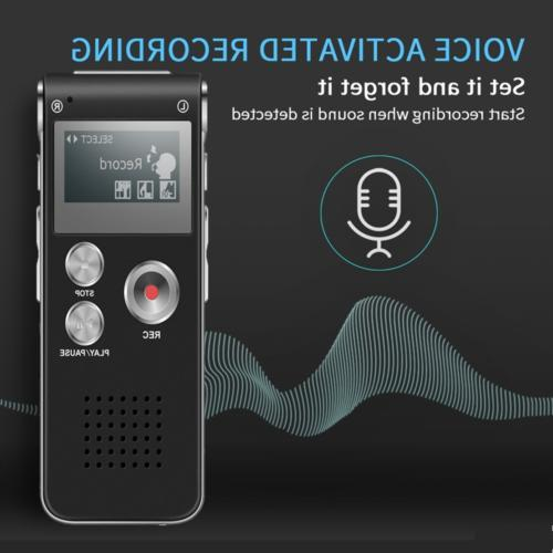 Voice Activated Digital Sound Audio Recorder MP3 Player US