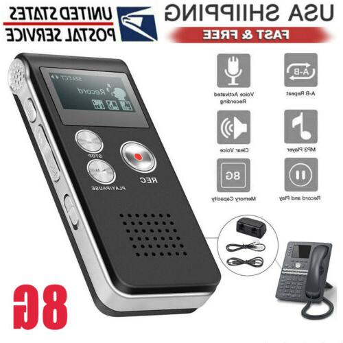 voice activated digital sound audio recorder small