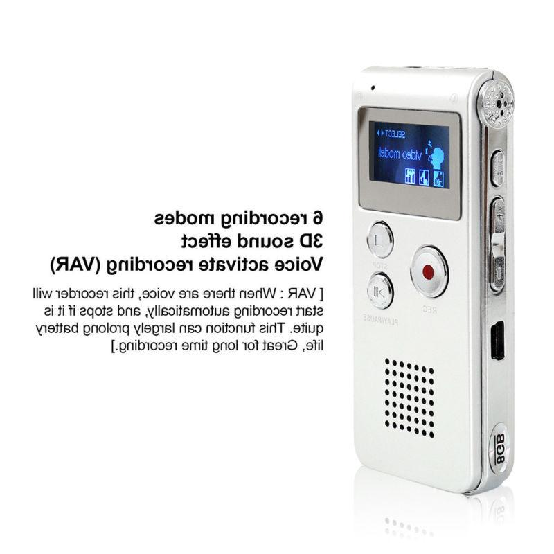 Rechargeable Digital Audio/Sound/Voice Recorder MP3 Music