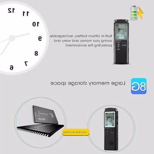 Voice Activated Mini Digital Sound Dictaphone Player 32G