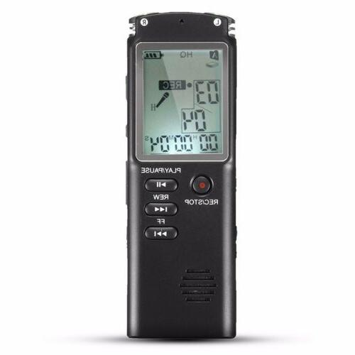 Voice Activated Digital Sound Audio Dictaphone MP3 Player
