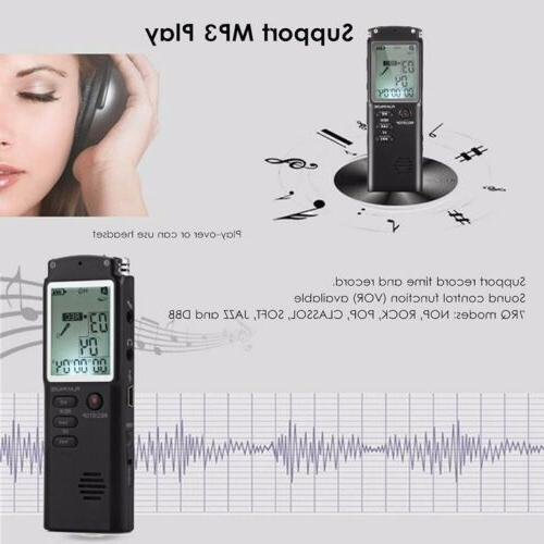 Voice Activated Mini Spy Digital Sound Recorder Dictaphone MP3 Player 32G