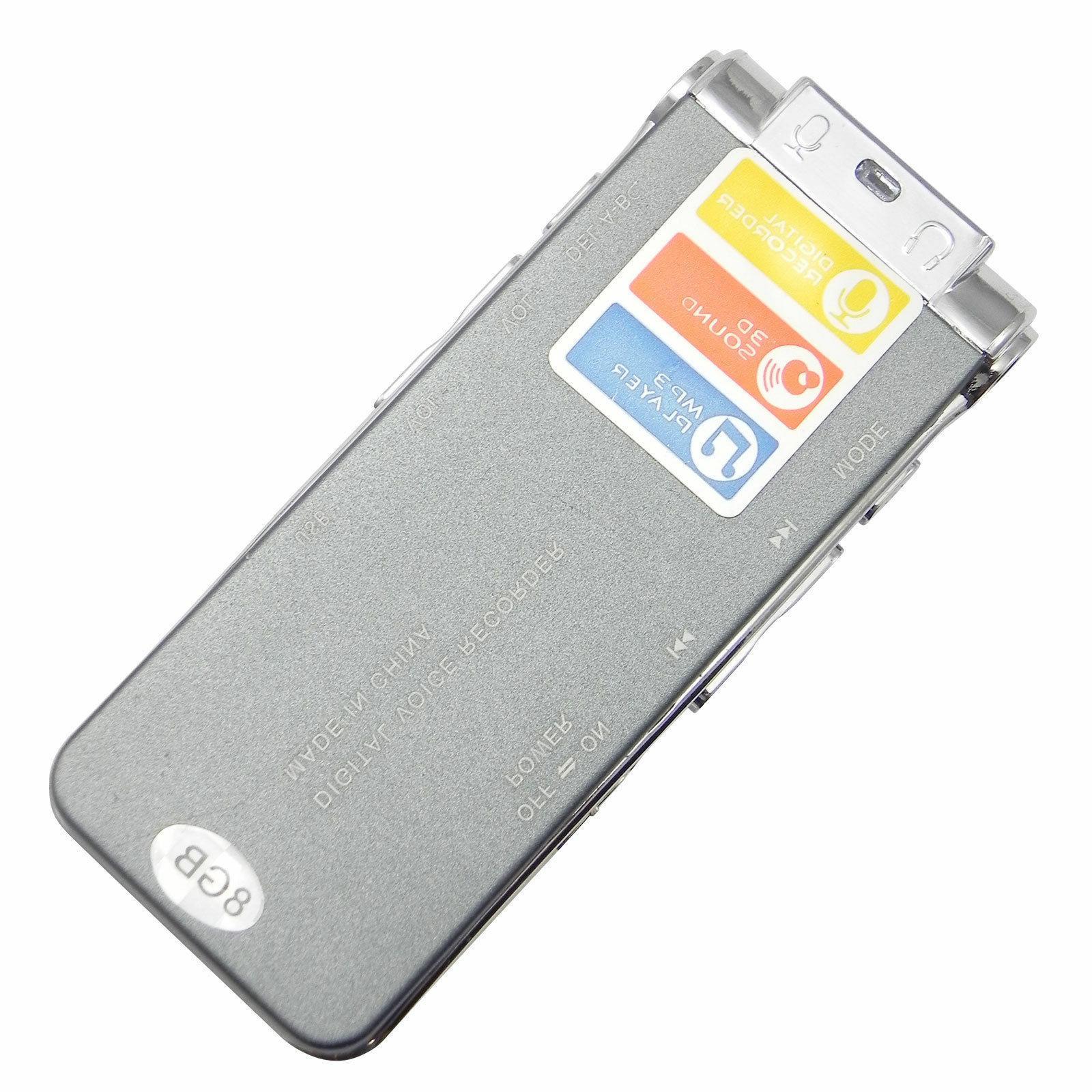 Voice Mini Spy 8GB Sound Recorder Dictaphone MP3 Player