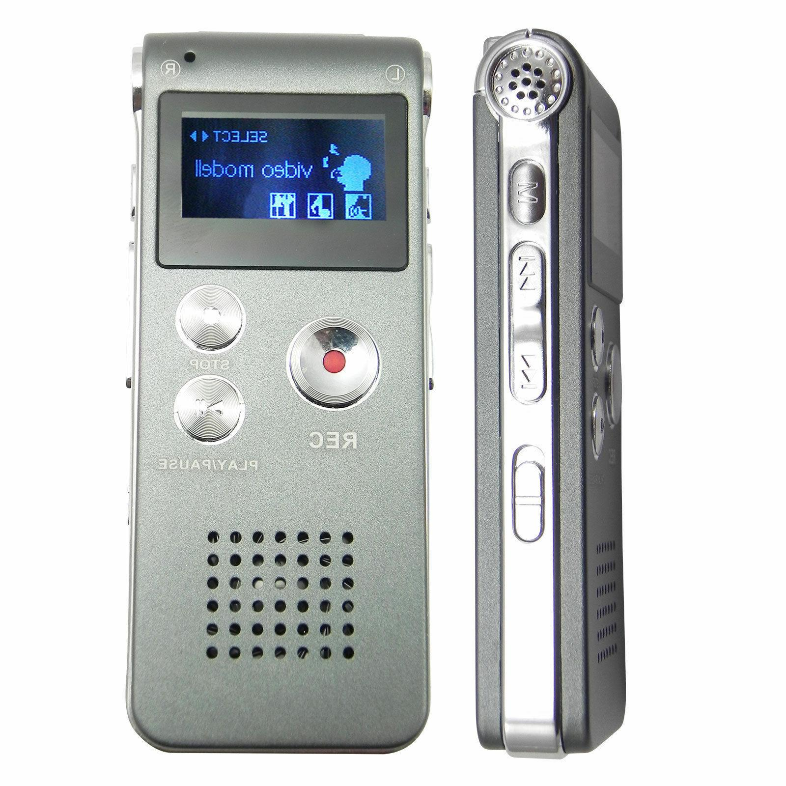 Voice Activated Spy 8GB Recorder Dictaphone