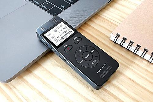 Digital Voice Activated Yemenren 8GB Recorder Dictaphone for Meetings, Rechargeable