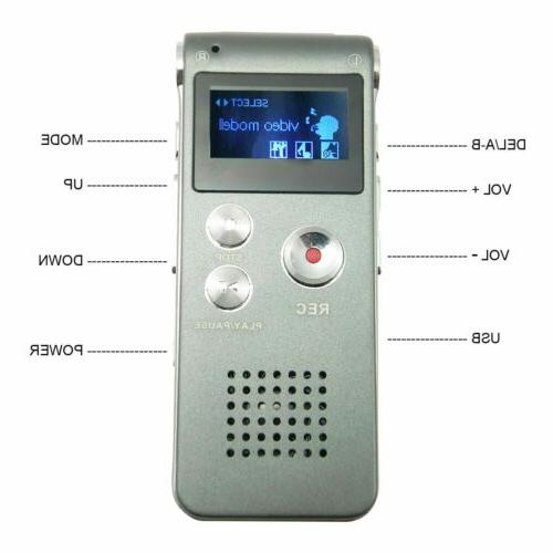 Mini Digital Voice Recorder MP3 Player US