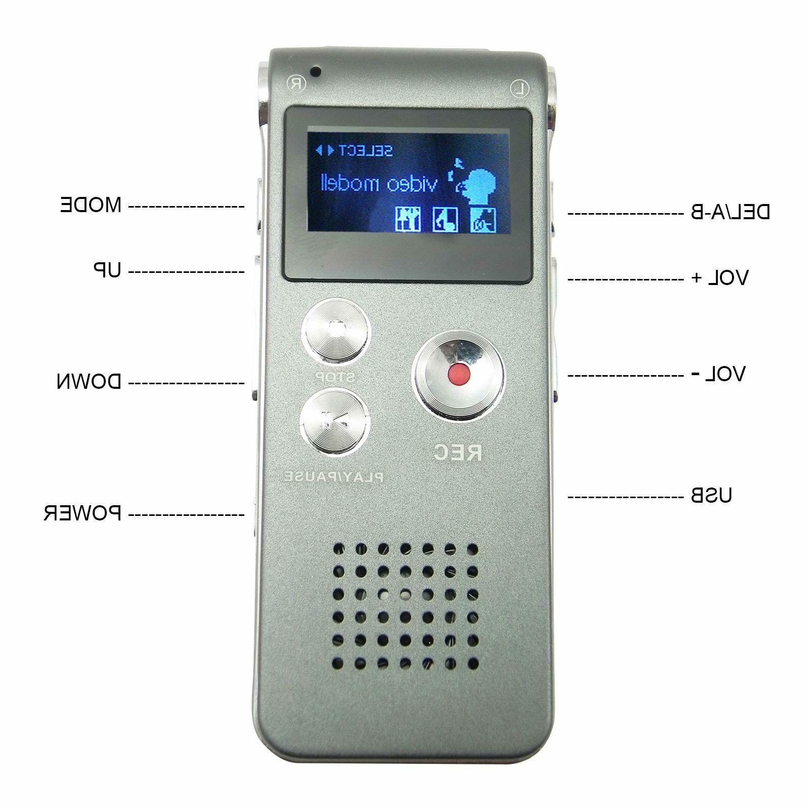 Voice Mini Digital Dictaphone Player