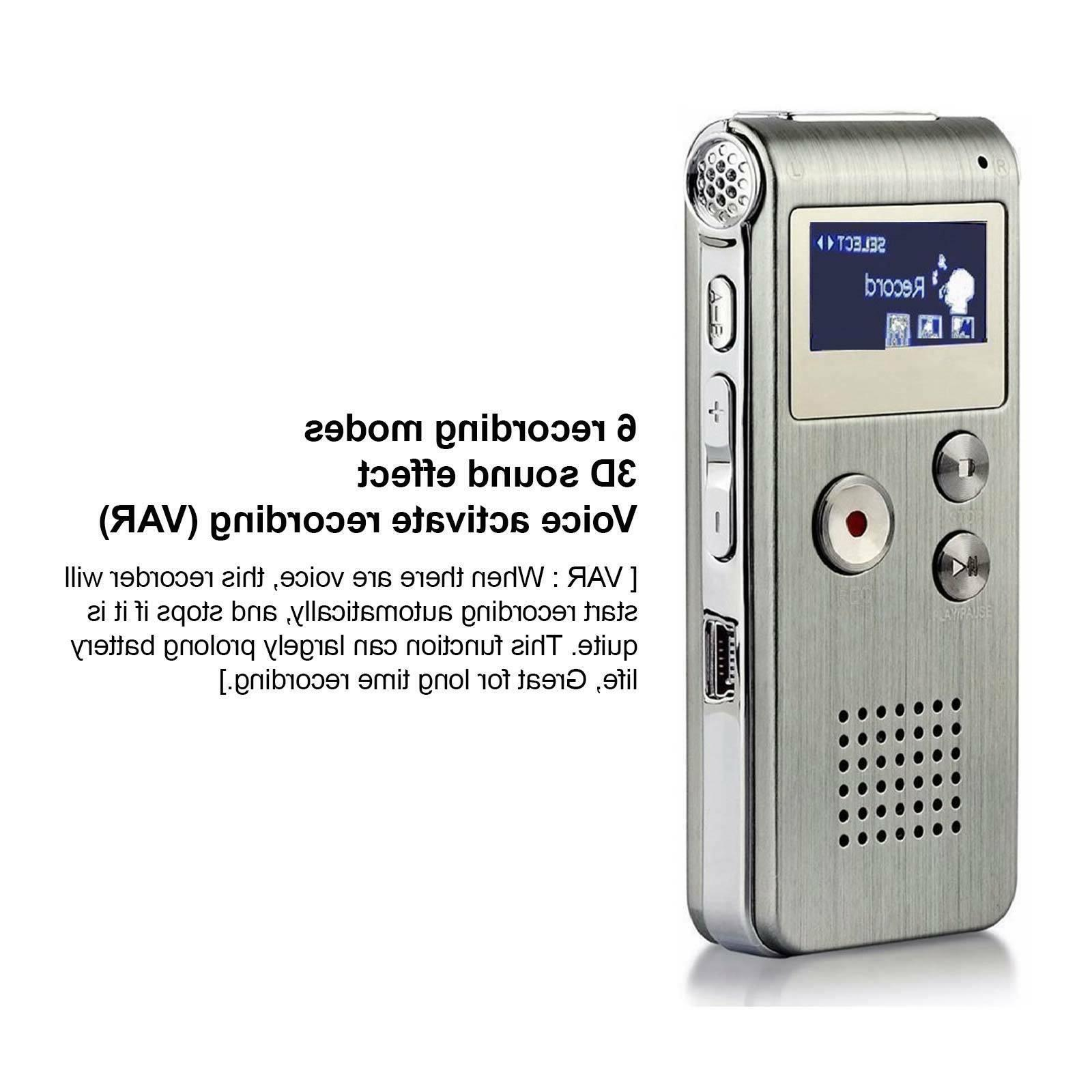 Voice Spy Dictaphone 8GB MP3 Player