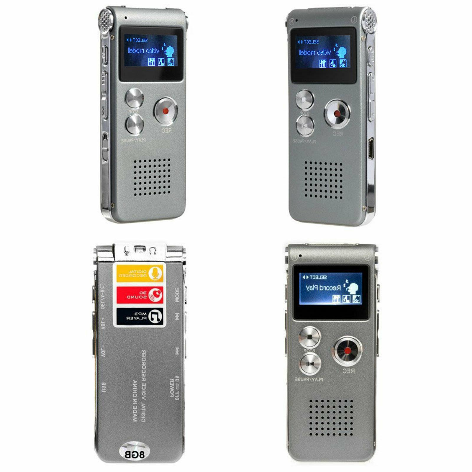 Voice Mini Digital Sound Recorder Dictaphone 8GB MP3