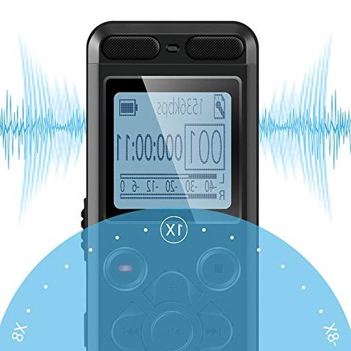 EVISTR Recorder Lectures Portable Voice Activated Recorders Password
