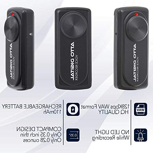 Small Recorder 20 Hours Battery Life | Ideal for Meetings or Interviews 141 Hours 8GB aTTo digital