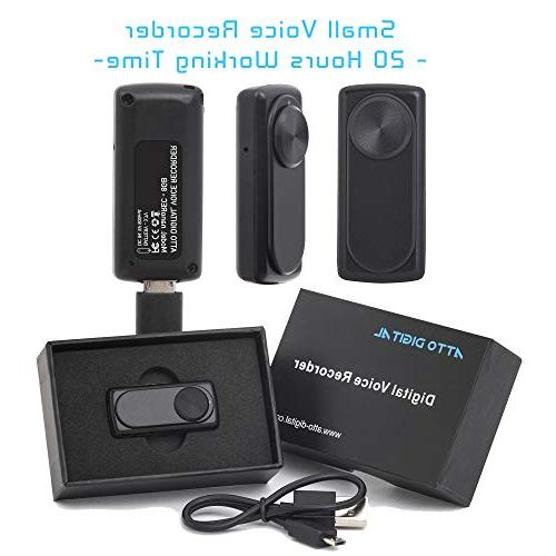 Small Recorder 20 Hours Battery Life | Ideal Meetings or Interviews | 141 Capacity 8GB | nanoREC aTTo