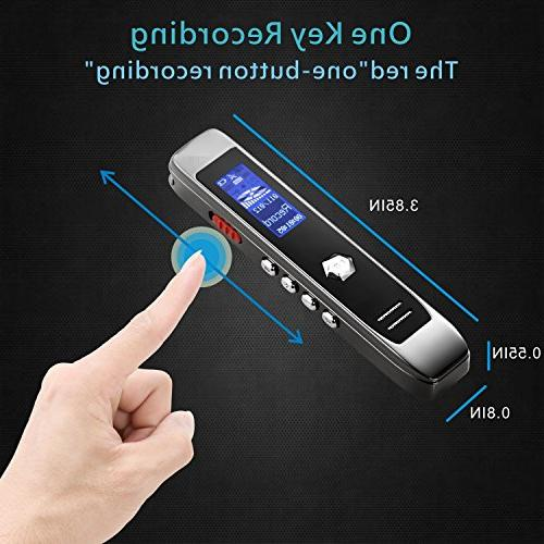 Sound 8GB USB Transcribe Voice Recorder, MP3 Player, Reduction, Multi-connectors Dictaphone for Meetings