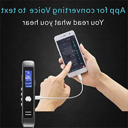 Voice Recorder, Sound Recorder, Transcribe MP3 Player, Noise Multi-connectors Dictaphone for Meetings