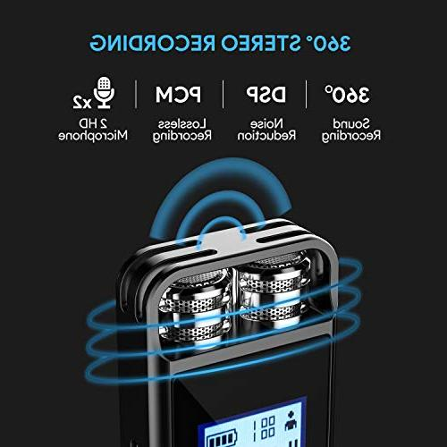 Digital Voice Activated Dictaphone,Portable HD USB Recorder Support TF Card 32G