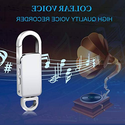 Voice USB Recorder, Rechargeable Metal Digital Voice Recorder