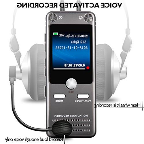 16GB Digital Voice for Sound Recorder Dictaphone Tape Recording Device