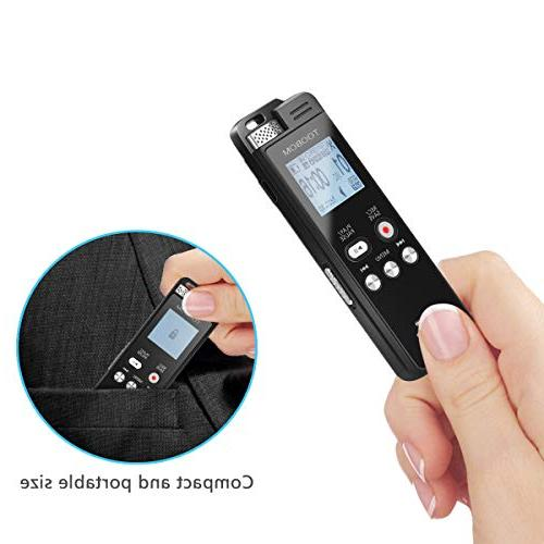 TOOBOM Recorder Voice Recorder Playback - 2019 Sound Line in