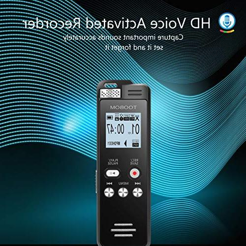 TOOBOM Digital Recorder Activated Playback - Upgraded
