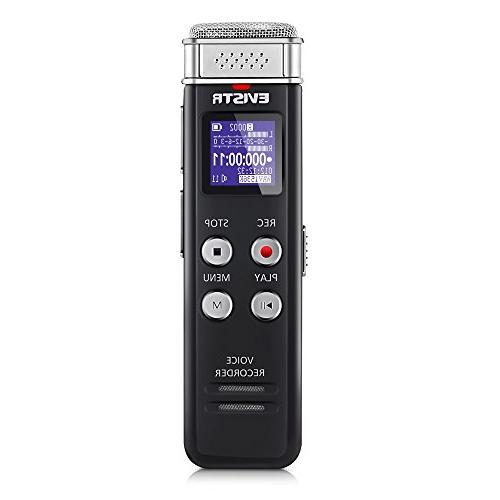 EVISTR 16GB Digital Voice Recorder Activated with - Small Tape Recorder Lectures, Meetings, Interviews, Mini Audio MP3