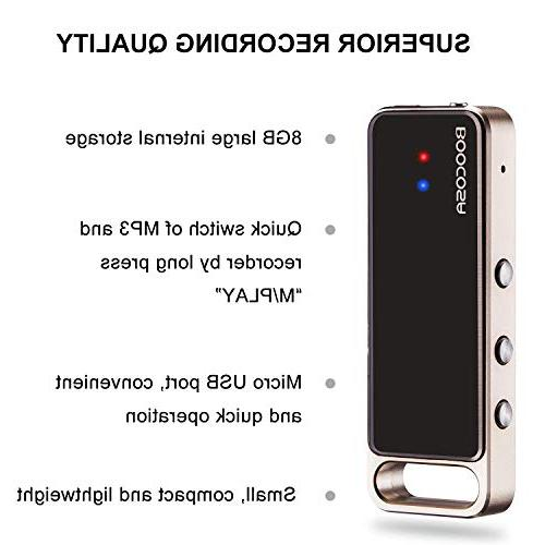 Digital Voice 8GB Recorder MP3 Player USB Recorder VR002