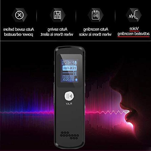 Digital Mini Multifunctional Dictaphone Meetings Double Reduction Recording, USB
