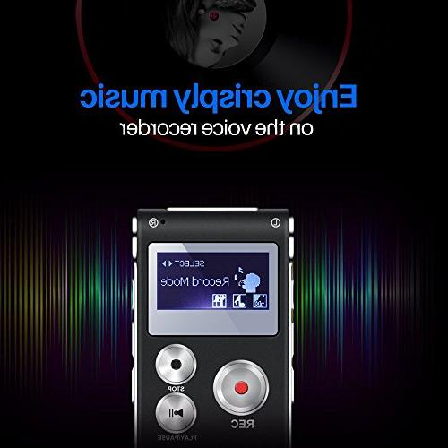 Voice Recorder Digital - Double Sensitive Metal Body Lecture Recorder