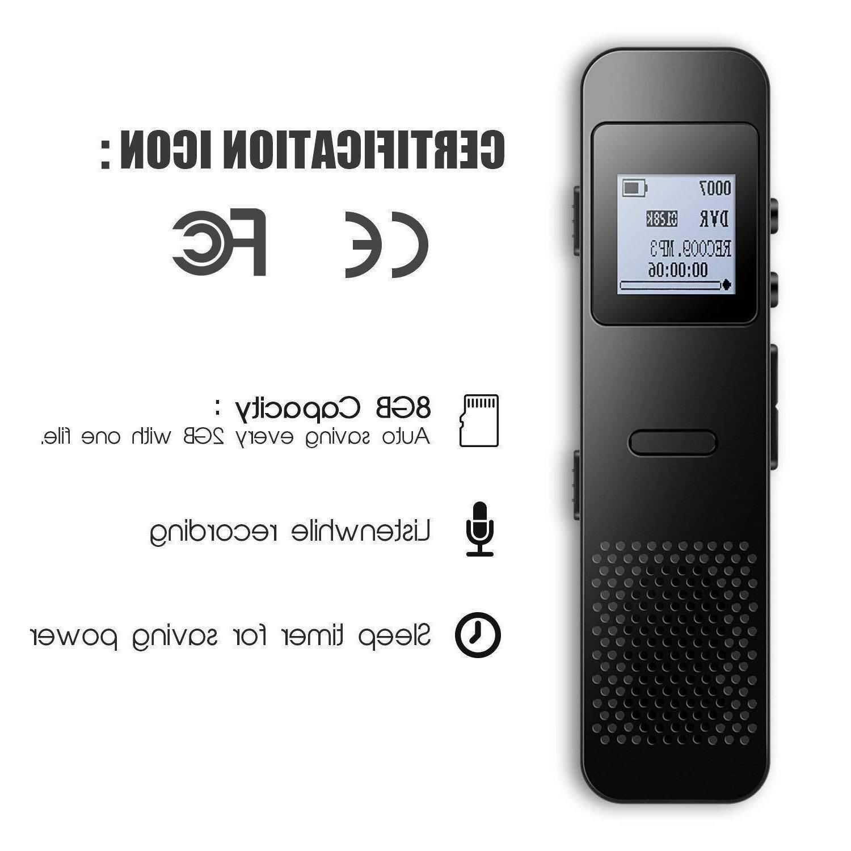AGPTEK 8GB Voice Stereo