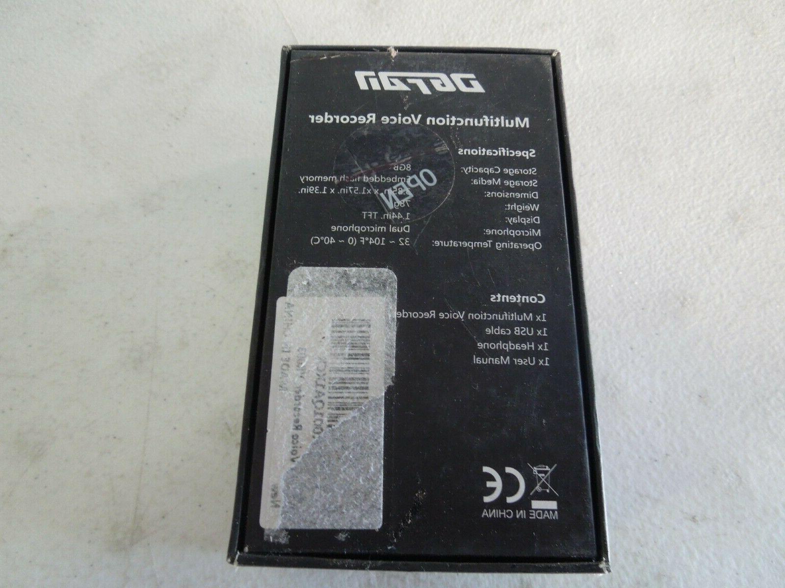 DGFAN Voice Recorder, 8GB Multifunction recorder C