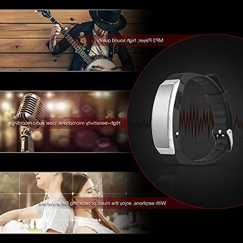 Aibecy Digital Recorder Player Voice Wristband Lectures