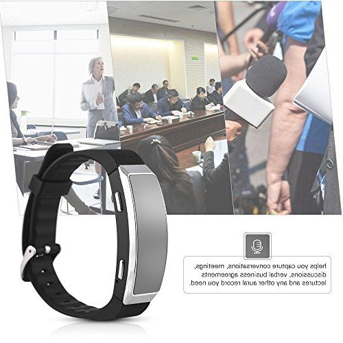Aibecy Recorder Wearable Music Player Voice Wristband for Lectures