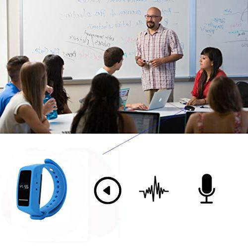 8GB Recorder Wristband Audio Recorder Watch Recording Bracelet Lecture & Playback