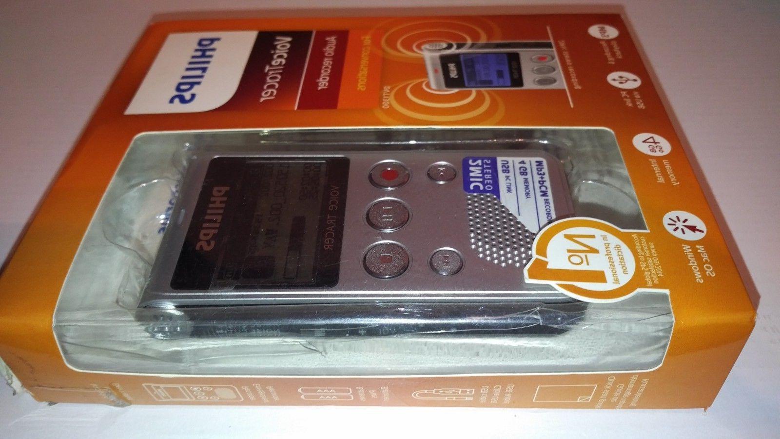 voice tracer audio recorder dvt 1300 silver
