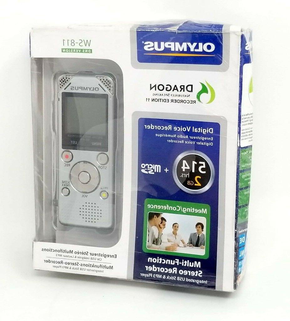 Olympus WS-811 Digital Voice – SILVER/VINTAGE