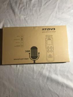 EVISTR L157B 16GB Digital Voice Recorder. Still In Shrink wr