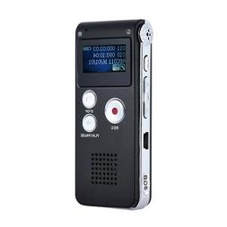 LCD Rechargeable 8GB Digital Audio/Voice Recorder Dictaphone