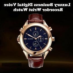 Luxury Business Digital Voice Recorder Wrist Watch