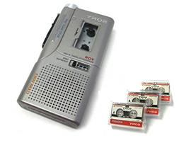 Sony M-530V MicroCassette Recorder Refurbished With 3 New Mi