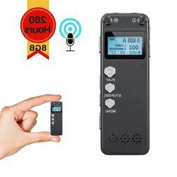 Mini Digital Activated Voice Recorder Spy Portable Bug Audio