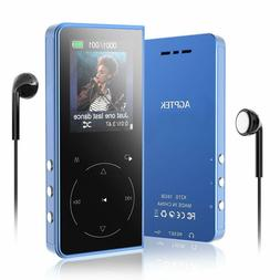 AGPTEK MP3 Player 16GB Bluetooth with Speaker Supports FM Ra