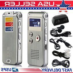 MP3 Player Digital Audio Voice Sound Recorder 8GB 650 hr Rec