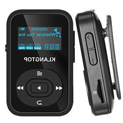 MP3 Player Bluetooth 8GB KLANTOP Digital Clip Music Player w