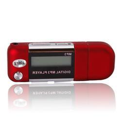 4GB MP3 USB Music Player Voice Recorder FM Radio Red