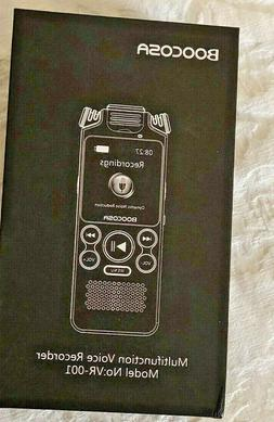 Boocosa Multifunction Voice Recorder Model No: VR-001