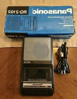 NEW Panasonic RQ-2102 Handheld Portable Cassette Voice Recor