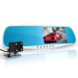 newest night vision car dvr detector camera blue review mirr