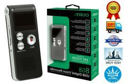 Newest Version Coby CVR-29BK 8 GB USB Digital Voice Recorder